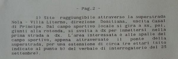 Verbale sopralluogo Masseria Simeone